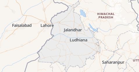 Punjab kaart