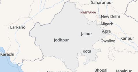 Rajasthan kaart
