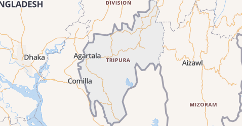 Tripura kaart