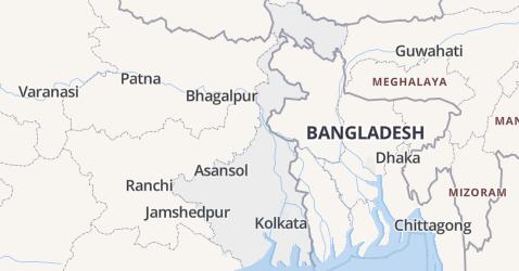 West-Bengalen kaart