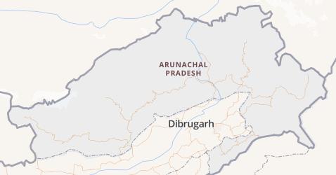 Arunachal Pradesh kaart