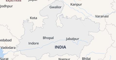 Madhya Pradesh kaart