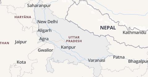 Uttar Pradesh kaart