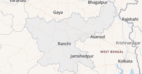 Jharkhand kaart