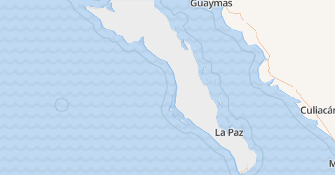 Baja California Sur kaart