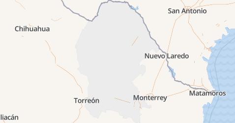 Coahuila de Zaragoza kaart