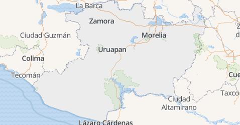 Michoacán de Ocampo kaart