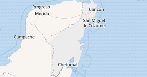 Quintana Roo kaart