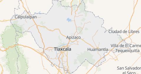 Tlaxcala kaart