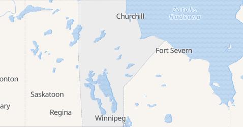 Manitoba - szczegółowa mapa
