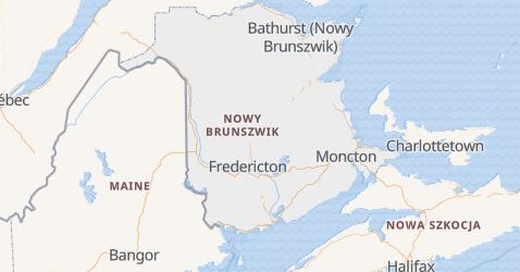 Nowy Brunszwik - szczegółowa mapa