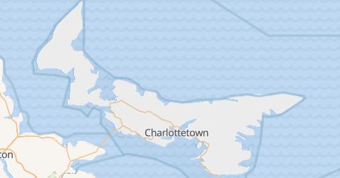 Wyspa Księcia Edwarda - szczegółowa mapa