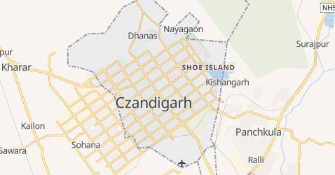 Czandigarh - szczegółowa mapa