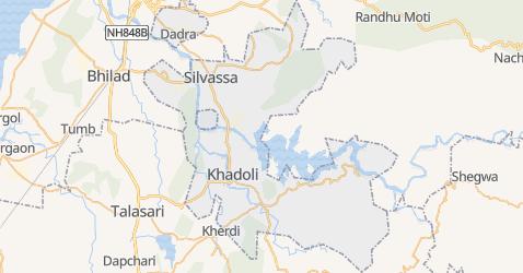 Dadra i Nagarhaweli - szczegółowa mapa