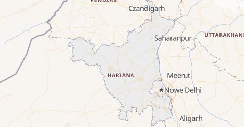 Hariana - szczegółowa mapa