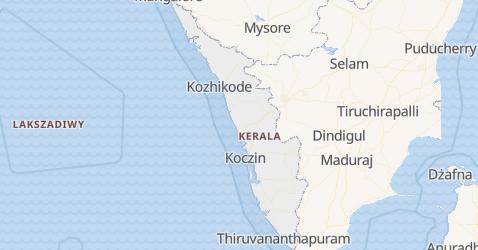 Kerala - szczegółowa mapa