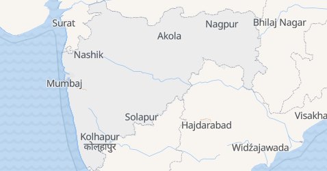 Maharasztra - szczegółowa mapa