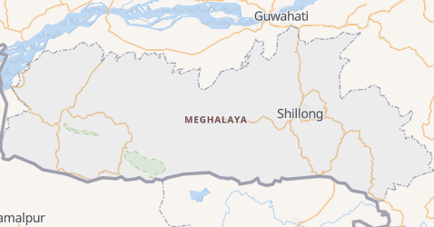 Meghalaya - szczegółowa mapa