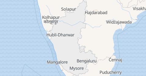 Karnataka - szczegółowa mapa