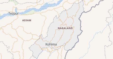 Nagaland - szczegółowa mapa