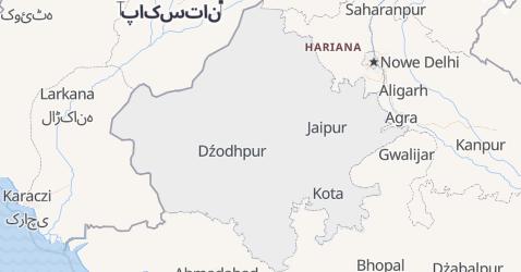 Radżastan - szczegółowa mapa