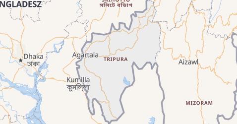 Tripura - szczegółowa mapa