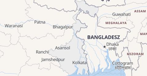 Bengal Zachodni - szczegółowa mapa