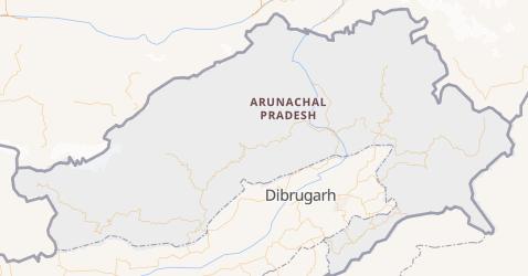 Arunachal Pradesh - szczegółowa mapa