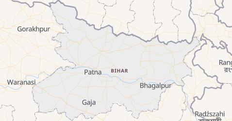 Bihar - szczegółowa mapa