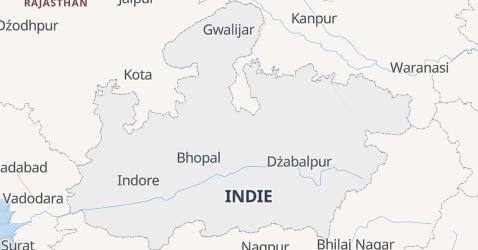Madhya Pradesh - szczegółowa mapa