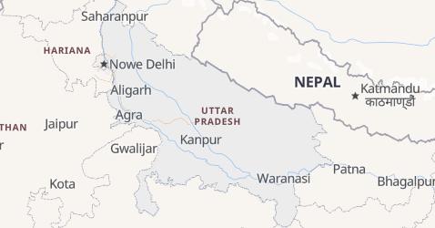 Uttar Pradesh - szczegółowa mapa