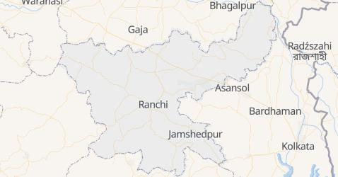 Jharkhand - szczegółowa mapa