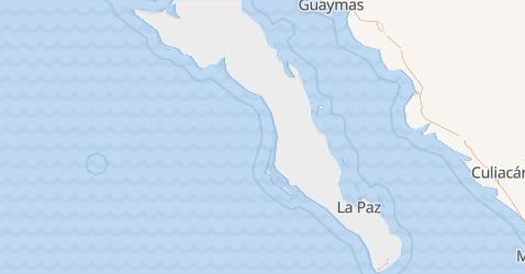 Kalifornia Dolna Południowa - szczegółowa mapa