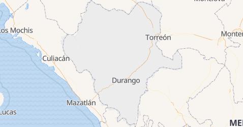 Durango - szczegółowa mapa