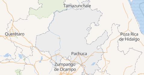 Hidalgo - szczegółowa mapa