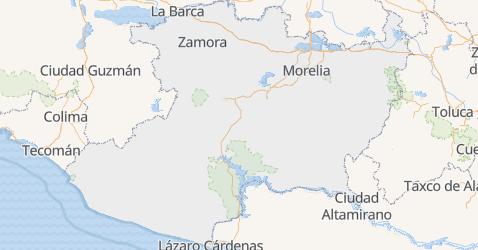 Michoacán - szczegółowa mapa