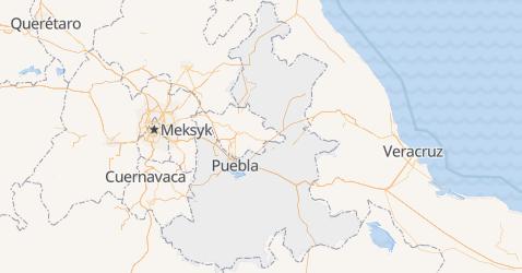 Puebla - szczegółowa mapa