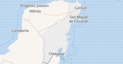 Quintana Roo - szczegółowa mapa