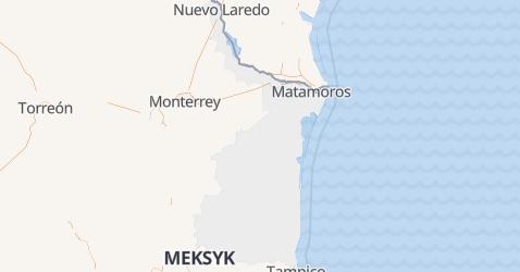 Tamaulipas - szczegółowa mapa