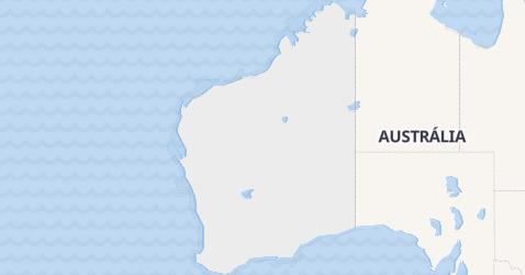 Mapa de Austrália Ocidental