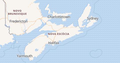 Mapa de Nova Escócia