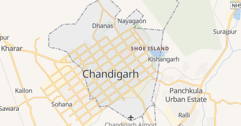 Mapa de Chandigarh