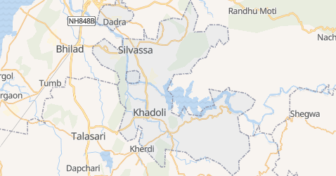 Mapa de Dadrá e Nagar-Aveli