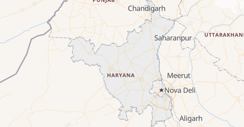 Mapa de Haryana