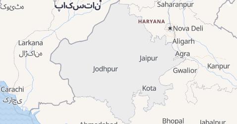 Mapa de Rajastão