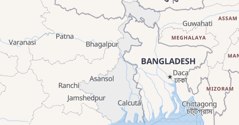 Mapa de Bengala Ocidental