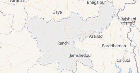 Mapa de Jharkhand