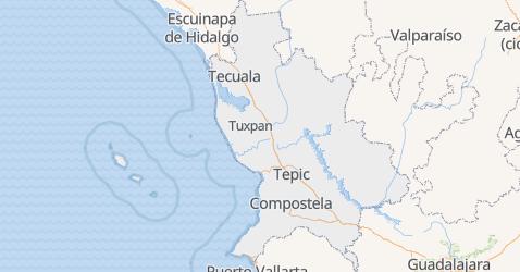 Mapa de Nayarit