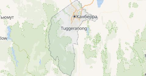 Австралийская столичная территория - карта