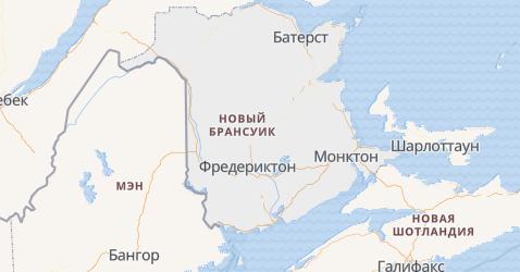 Нью-Брансуик - карта